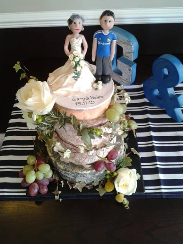 Wedding Cheese Cake roses and grapes 1