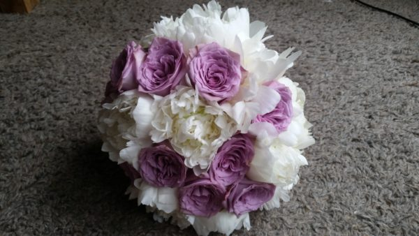 Bridal Peony and Rose bouquet 1