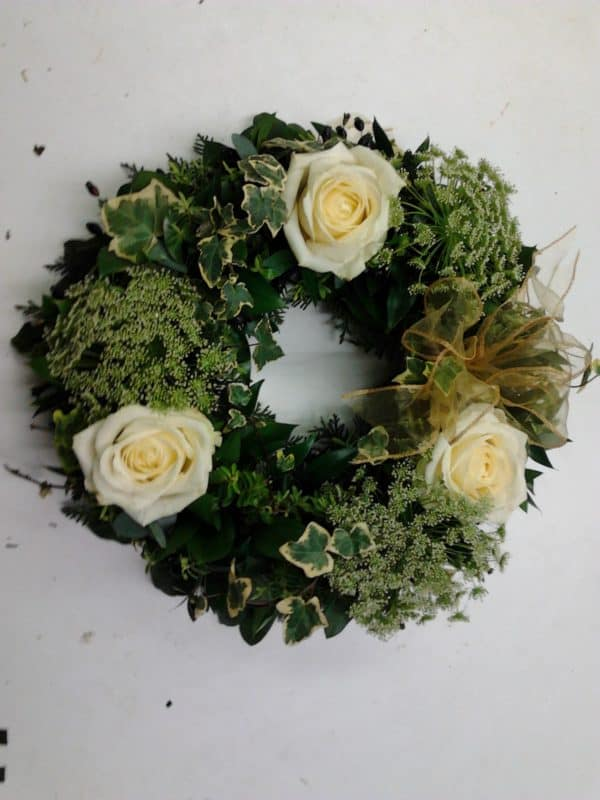 Textured Wreath in Green 1
