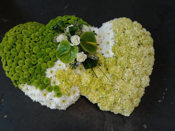 Double Solid Heart 18 inch Textured 1