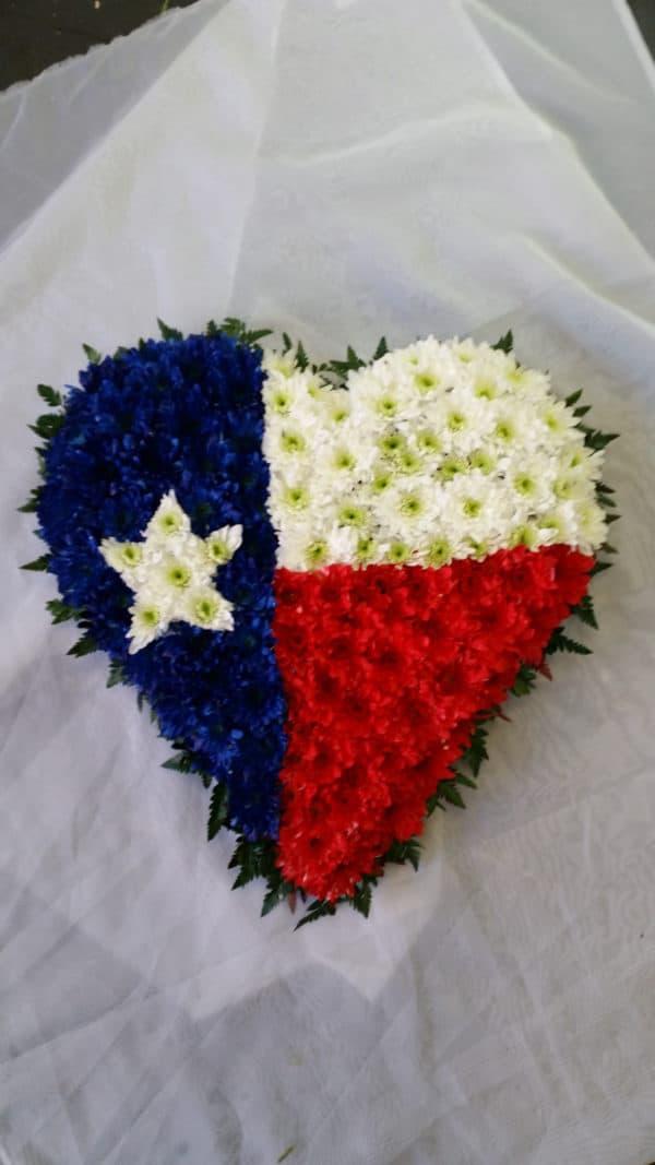 Solid Heart/Flag Design 1
