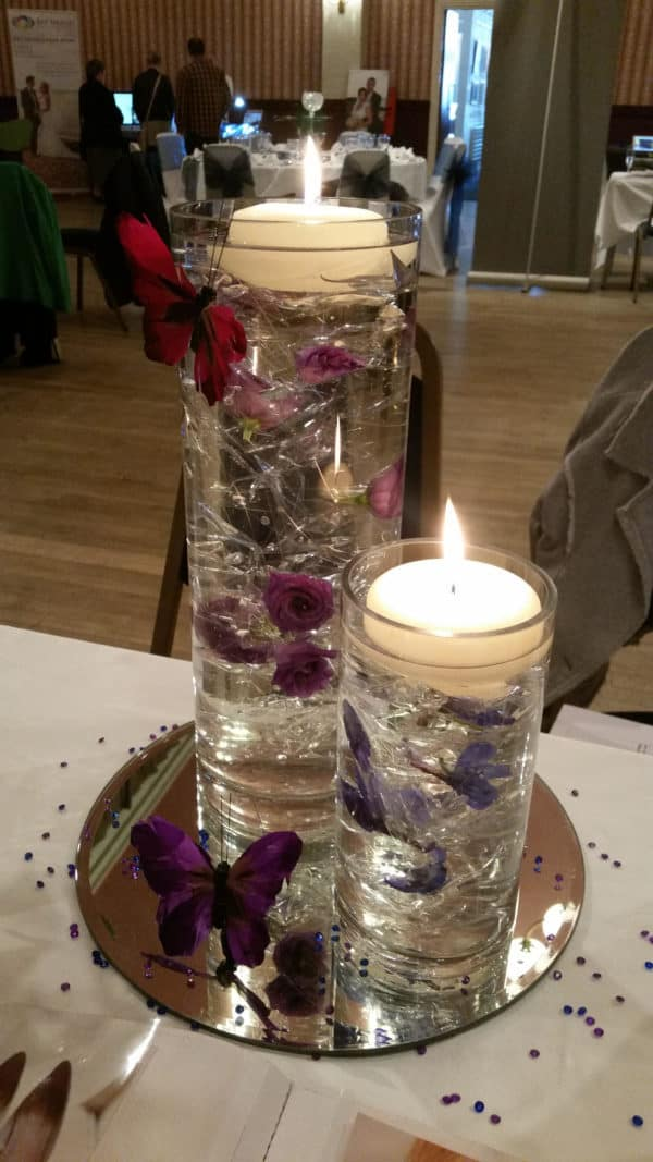 Cylinder Vases Table Center of Hire 1