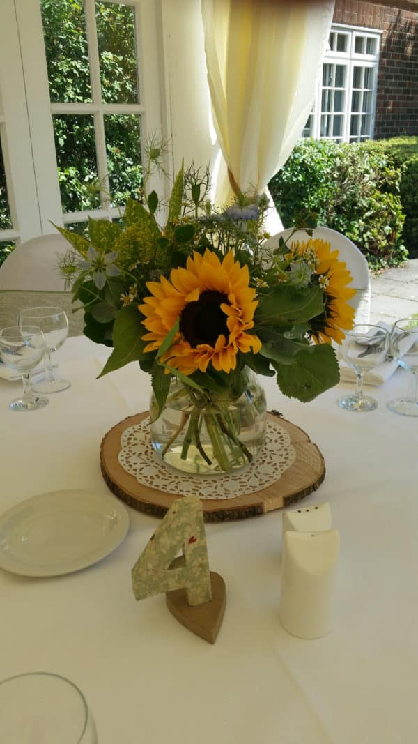 Wedding Table Center/ Sunflowers 1
