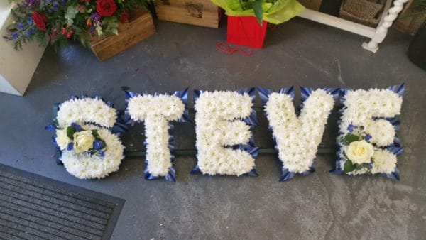Lettering Funeral Tributes - Any Name 1