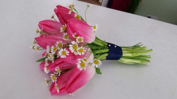 Bridesmaids Tulip posy 1