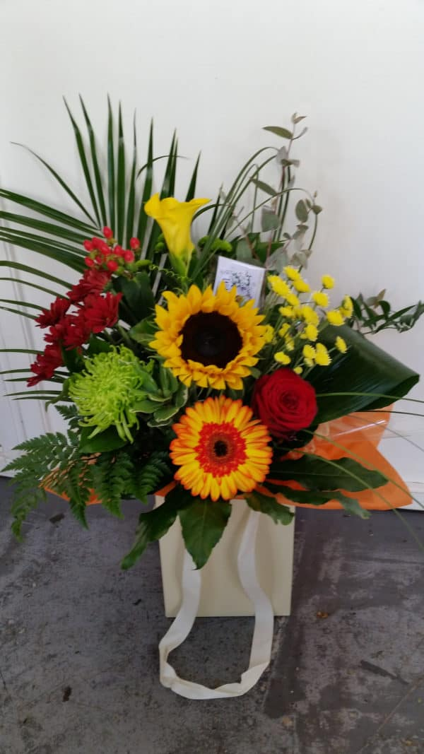 Hand Tied Bouquet in Autumn Colours 1