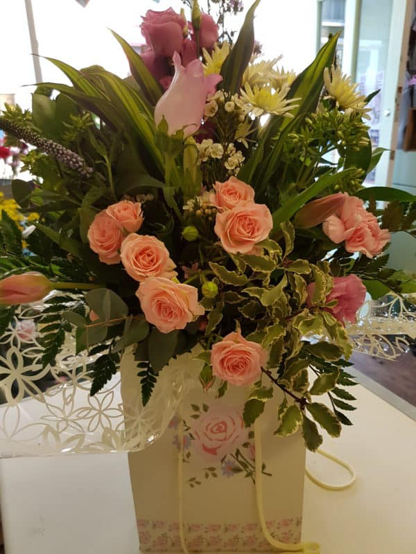 Hand Tied Bouquet In Contemporary Bag 1