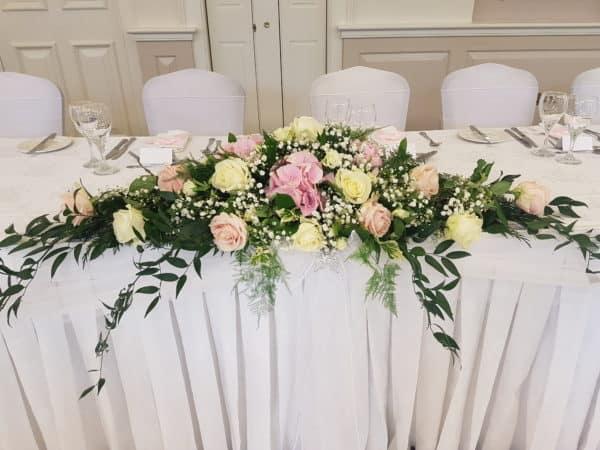 Top Table Arrangement Wedding 1