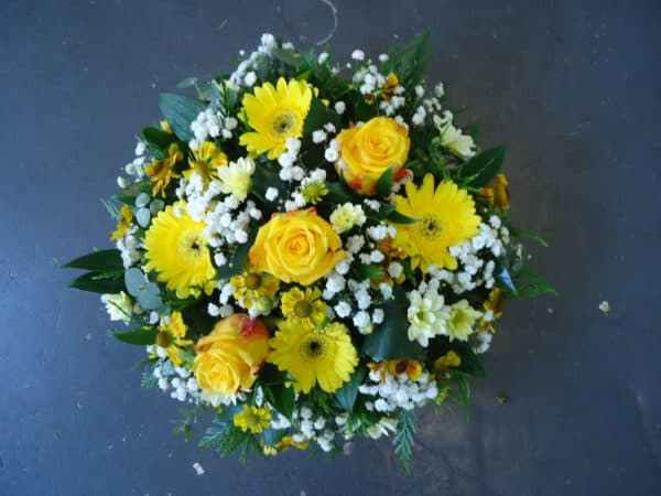 Posy Pad in Yellow and White 1