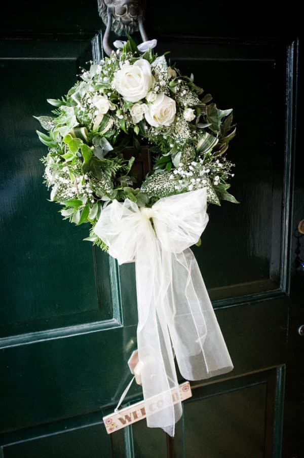 Door Wreath for a Wedding 1