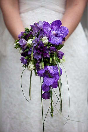 Teardrop Bouquet / Purple 1