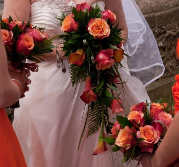 Rustic Orange Tear Drop Bouquet 1