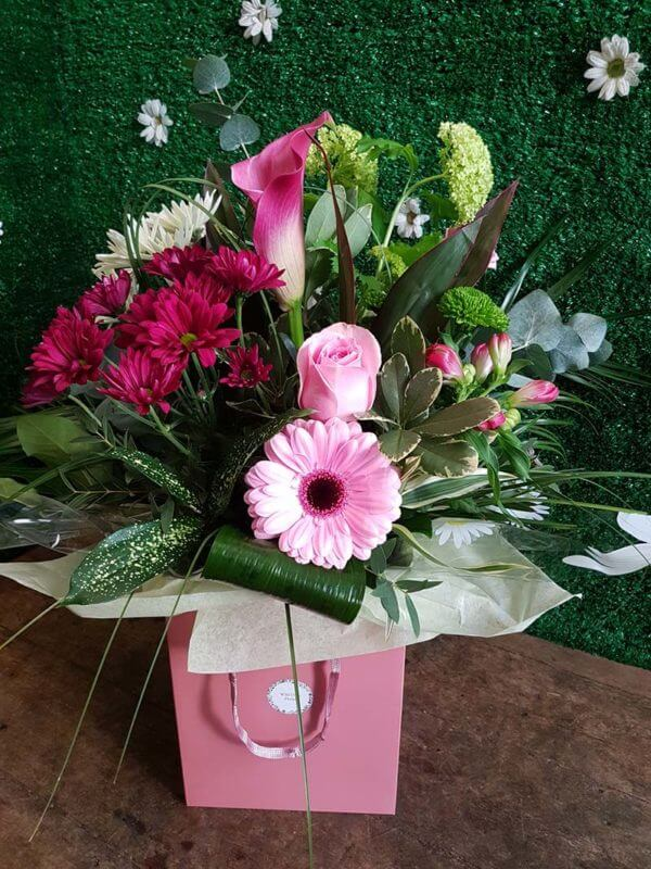 Modern Hand Tied Bouquet in Bag 1