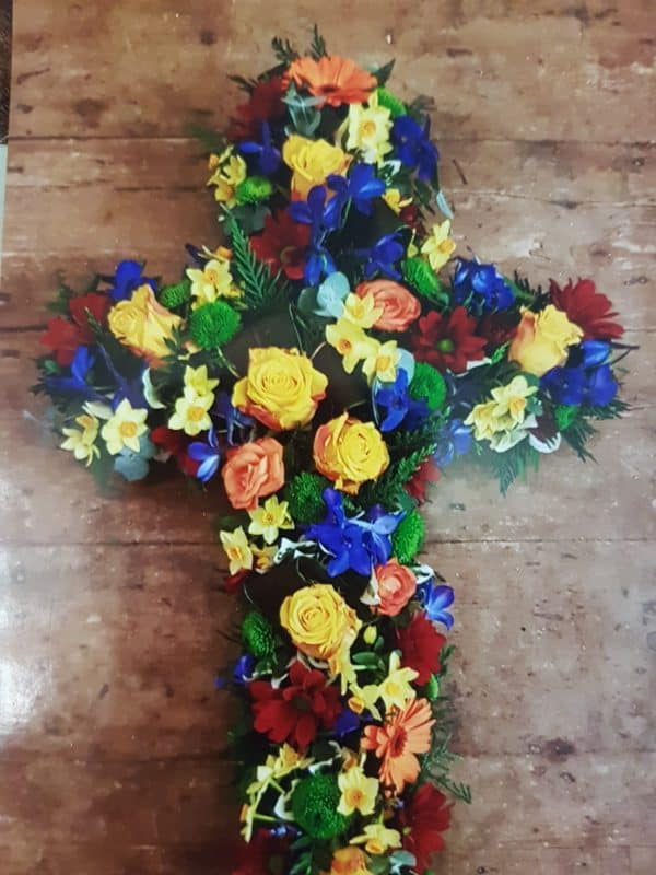 Floral Cross - Mixed flowers 1