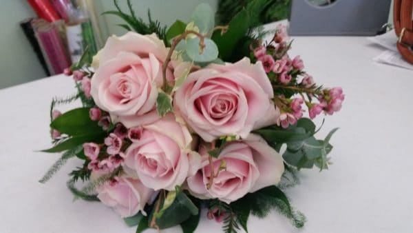 Wedding Bouquet/ Dusky pink and Ivory 1