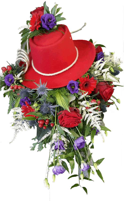 Hat with flowers 1