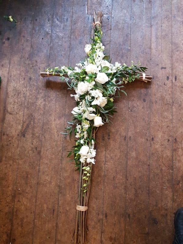 Floral Cross - Twig frame 2