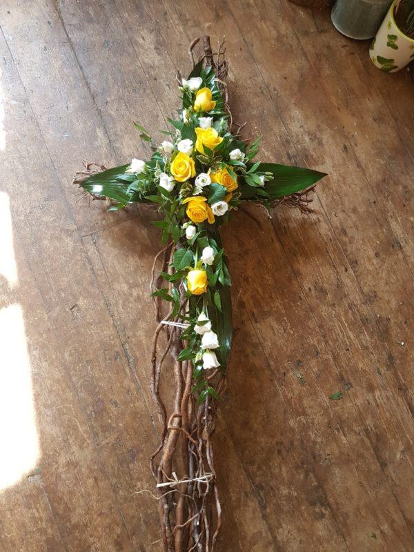 Floral Cross - Twig frame 1