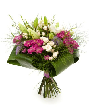 Hand Tied Lily Bouquet Seasonal Mix 1