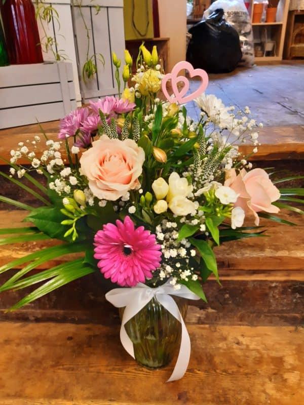Sweetheart Vase of Flowers 1