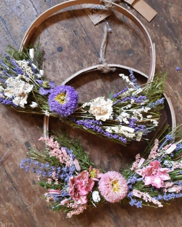 Dried flower hoop 1