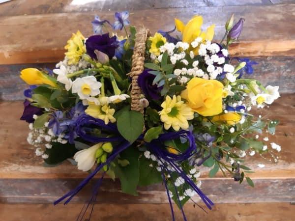 Spring Cut Flower Basket 1
