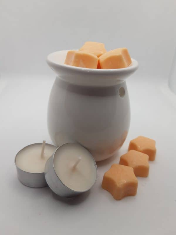Pot with scented wax melts & tea lights 2